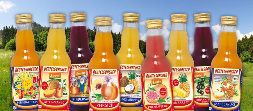 0,2l Flaschen Beutelsbacher Saftsortiment Demeter Bio