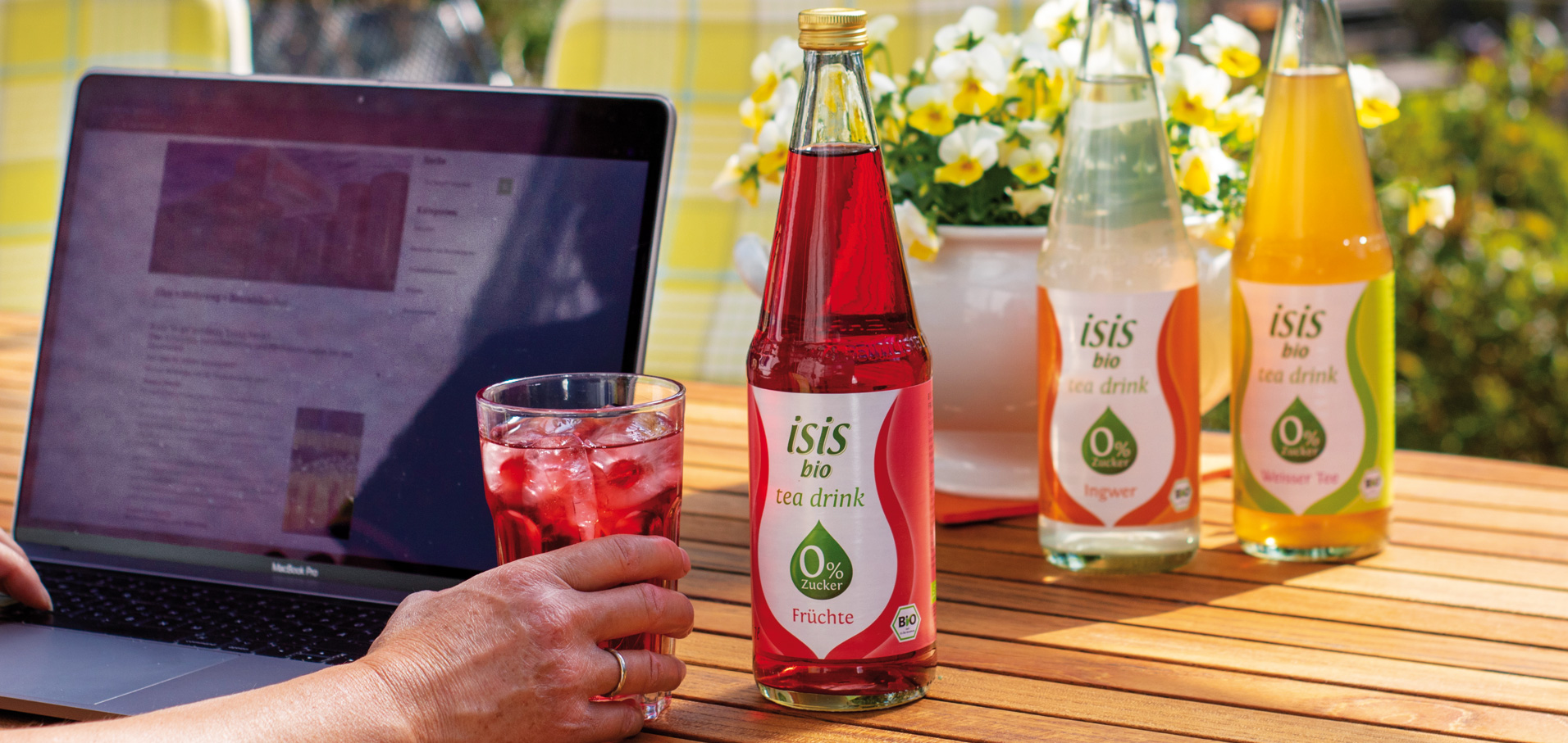 isis Bio tea drinks Erfrischungsgetränke Beutelsbacher