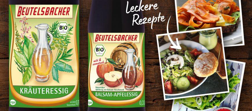 Bio Kräuteressig Bio Balsam Apfelessig Beutelsbacher leckere Rezepte