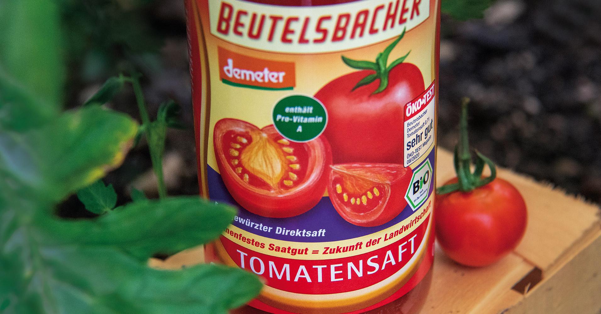 Beutelsbacher Tomatensaft in Demeter-Qualität