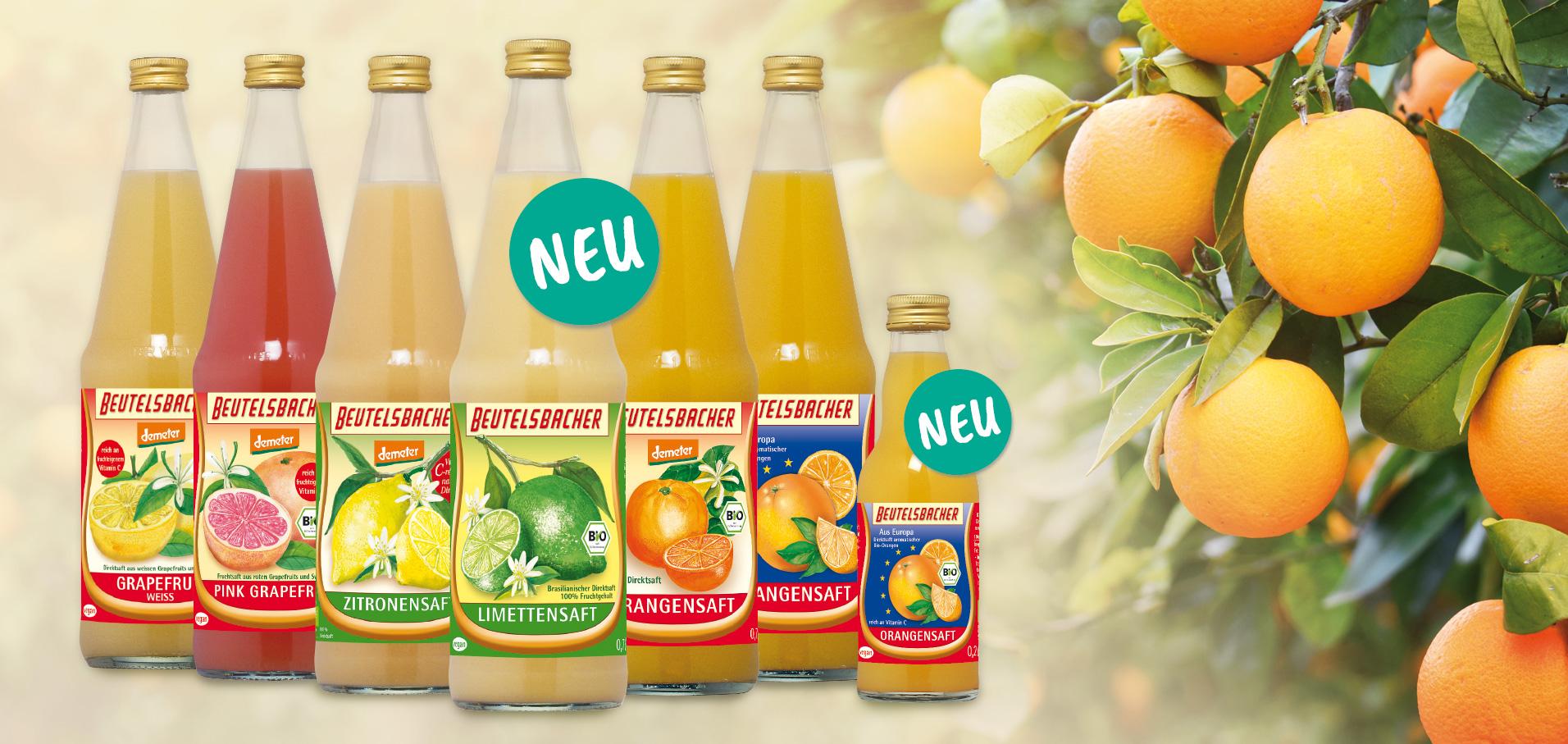 Beutelsbacher vitaminreiche Säfte mit Orangenbaum