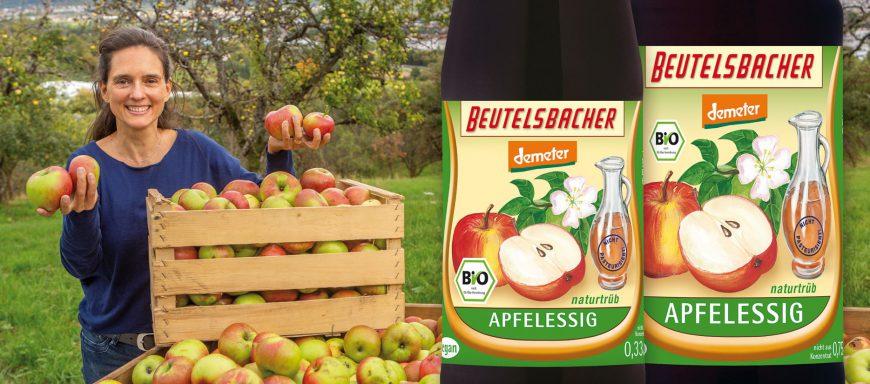 Apfelessig aus ganzen Äpfeln hergestellt