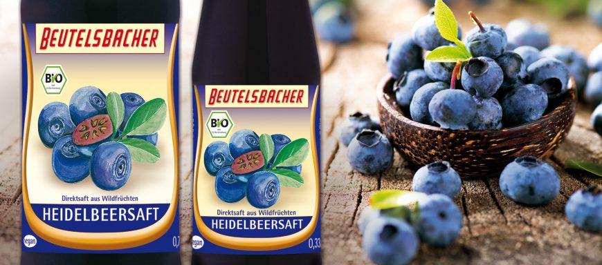 Beutelsbacher Bio Heidelbeersaft 0,7l