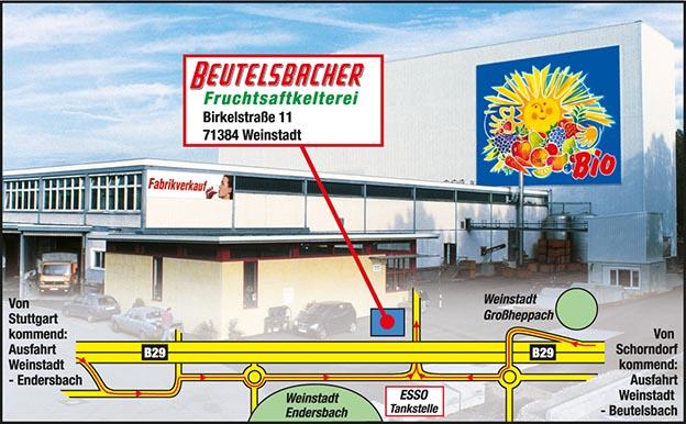 Beutelsbacher Anfahrtskizze